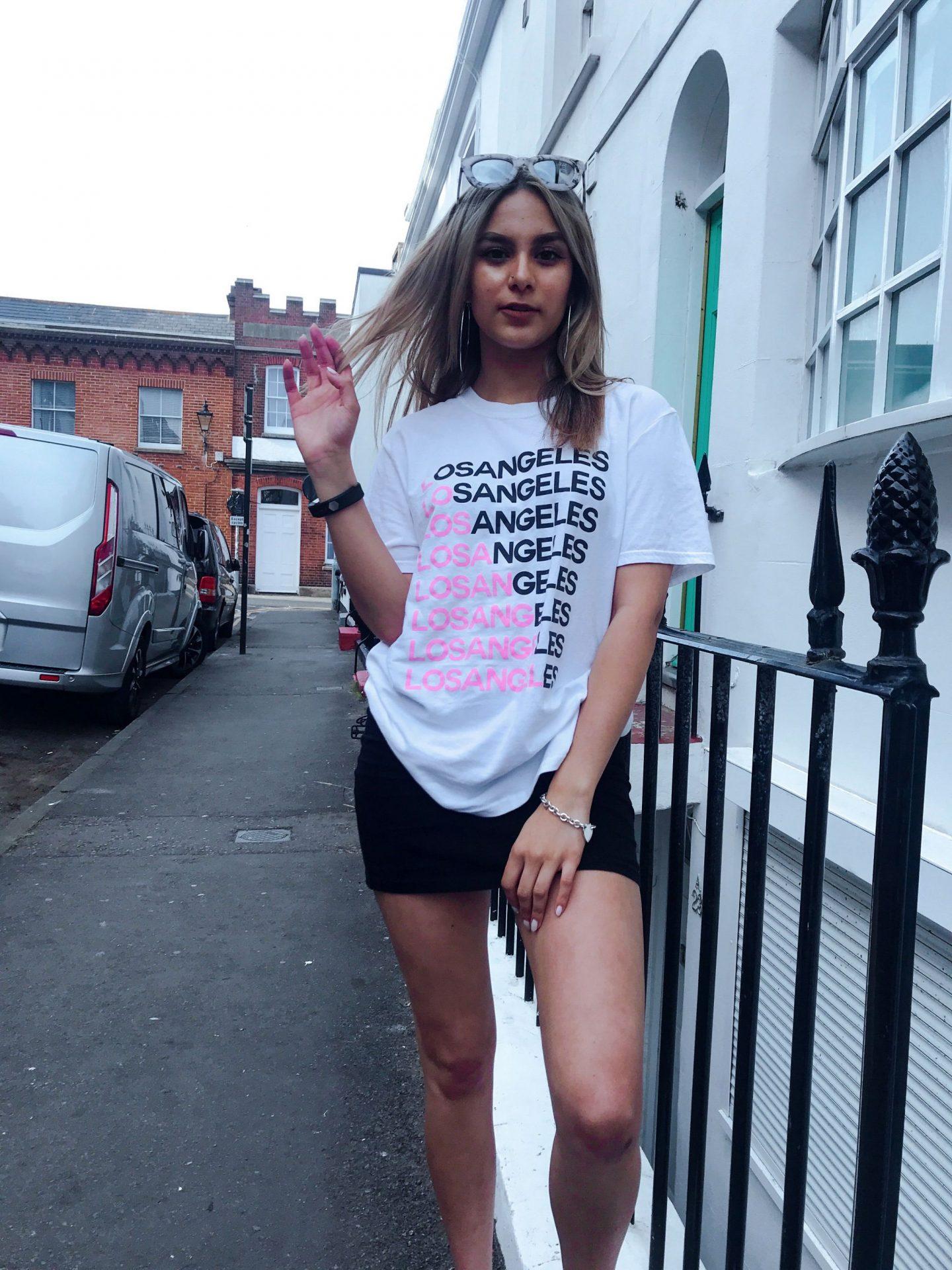 yasmin stefanie urban outfitters slogan tee tshirt los angeles