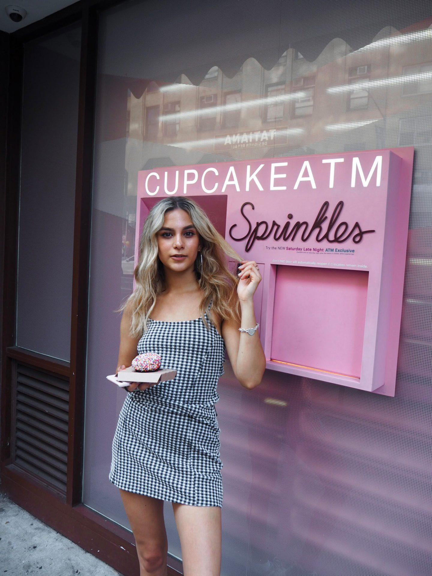 yasmin stefanie topshop gingham slip dress sprinkles cupcakes atm