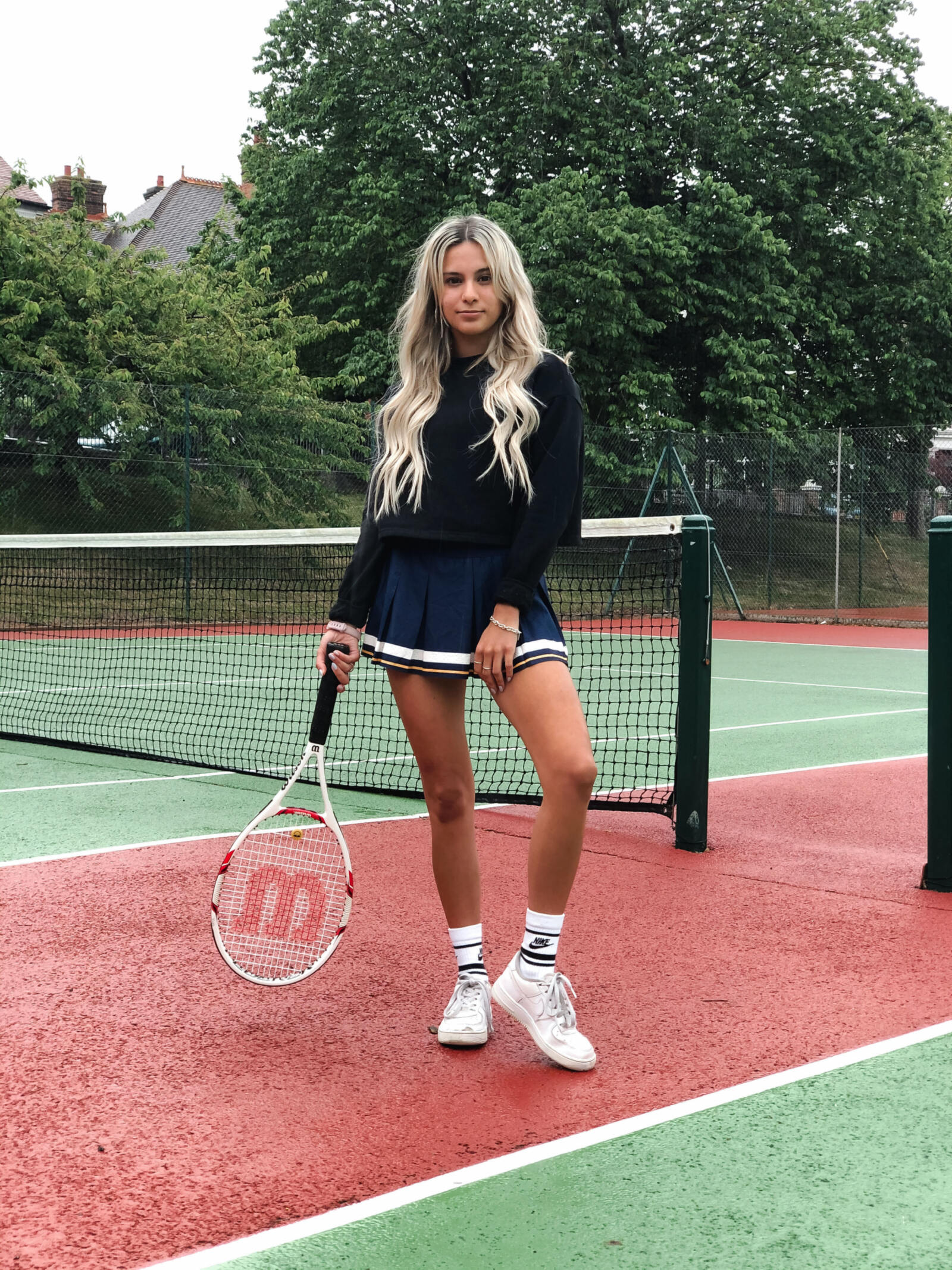 yasmin stefanie tennis court skirt style