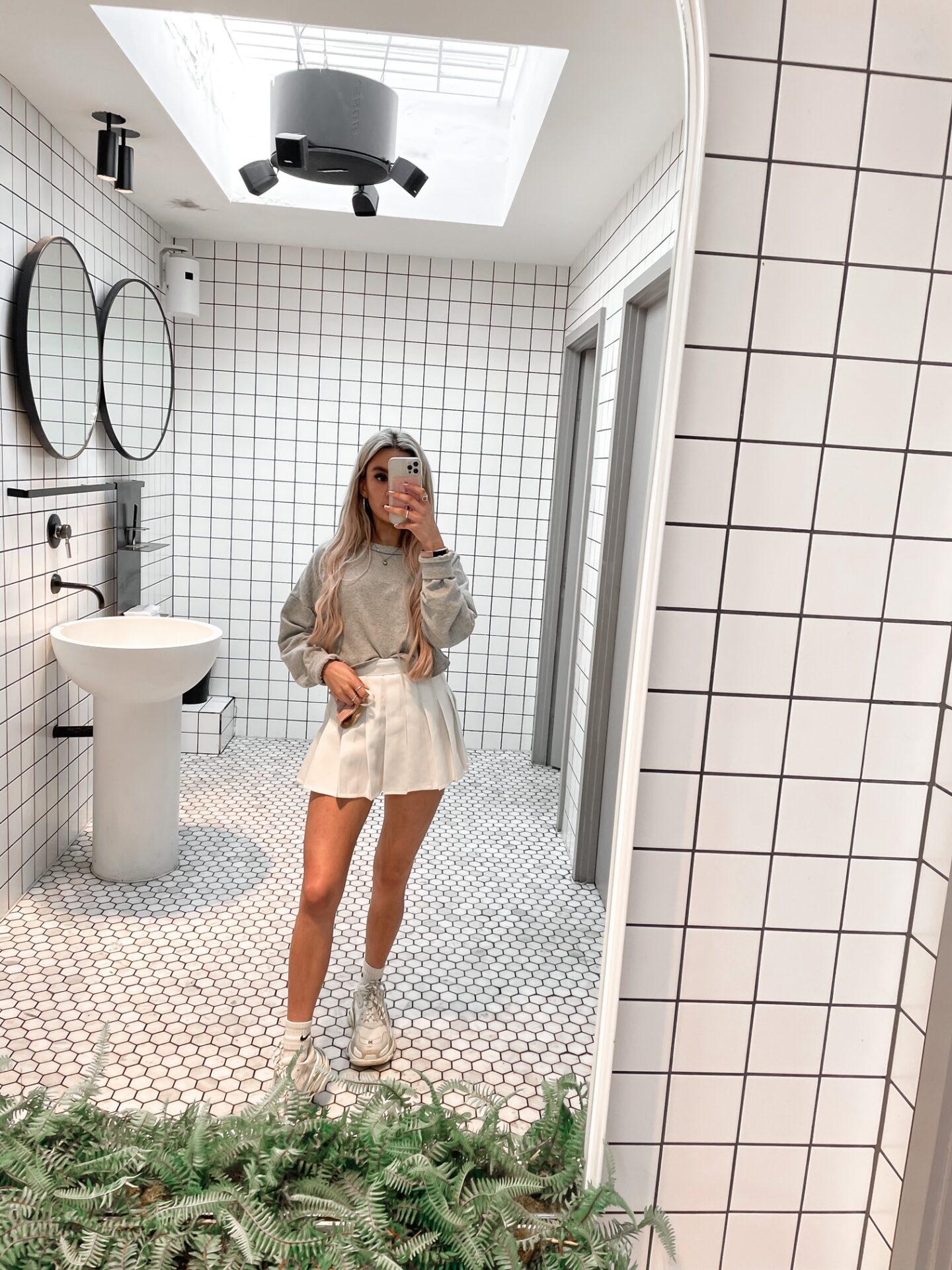 yasmin stefanie tennis style outfit